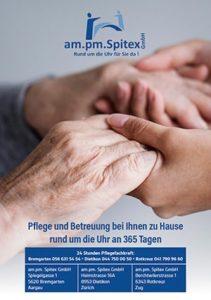 ampm-Spitex Broschüre Pflege und Betreuung